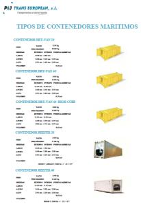 Tipos y Medidas de Contenedores Marítimos